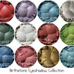 Mineral eyeshadow set, Mineral Makeup, Natural Makeup, Powder Eye Shadow, Cosmetics for Smokey Eyes, 12 Full Size Birthstone colors